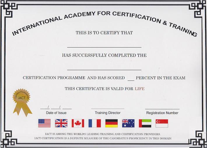 International Academy for Certification & Training (iACT) - Sample